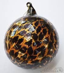 Animal <b>print glass</b> ornament featured on the Safari themed ...