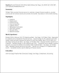 professional td bank teller templates to showcase your talent    resume templates  td bank teller