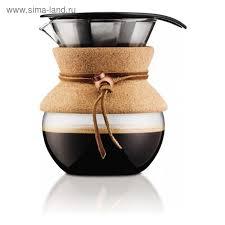 <b>Кофейник</b> с фильтром <b>Pour Over</b>, пробковый, 0.5 л (2378309 ...