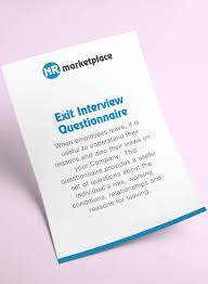 exit interview questionnaire hr marketplace a one stop shop exit interview questionnaire