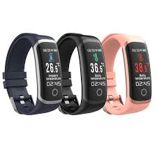 VYOO <b>T4 Smart</b> Thermometer <b>Bracelet</b> Heart Rate Sports ...