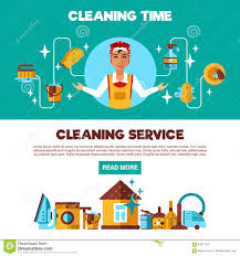 cleaning service banners cleaning the house stock vector image clening service 2 flat banners set stock photo