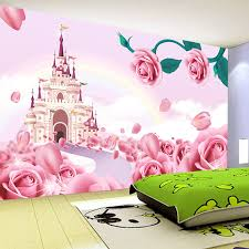 Photo Wallpaper <b>3D Stereo</b> Cartoon Princess Castle Mural <b>Girl's</b> ...