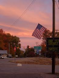 Image result for pink sunset with us flag