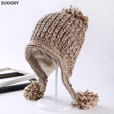 <b>Suogry Women</b> Winter Hats <b>Thick</b> Warm Earflap Cap Skullies ...