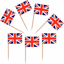 <b>5000 Pieces</b> UK <b>Flag</b> Toothpick Party Picks Nation Cocktail Stick ...