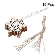 Tinksky <b>10pcs</b> Sharp Hexagonal Wooden Snowflake, <b>Christmas Tree</b>