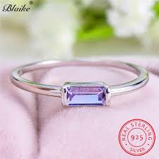 <b>Blaike</b> 100% Genuine <b>925 Sterling Silver</b> Round Zircon Diamond ...