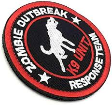 <b>Zombie Outbreak Response Team</b> K9 Unit Embroidered Airsoft ...