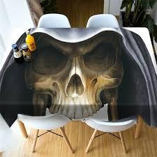 <b>Gothic Halloween</b> Decor 3D Skull Skeleton Tablecloth <b>Square</b> ...