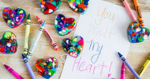 <b>DIY Heart</b> Shaped Crayons - Princess Pinky Girl
