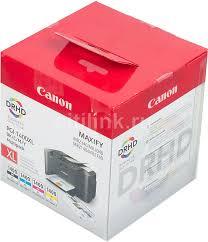Купить <b>Картридж CANON PGI-1400XL</b> BK/C/M/Y, черный ...