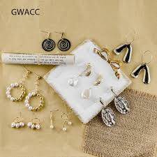 <b>2019 GWACC</b> Elegant Pearl Drop Earrings Metal Earrings For ...