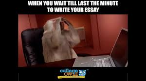 when you wait till the last minute to write your essay when you wait till the last minute to write your essay