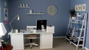 interior design large size blue home office design with white furniture and neat hd picture blue home office
