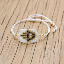 <b>Shinus 10pcs lot MIYUKI</b> Bracelets Hamsa Hand Bracelet White Evil ...