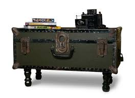 room vintage chest coffee table:  coffee table vintage army green trunk coffee table trunk coffee tables amazing chest coffee