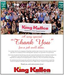 king kullen thanks employees for a job well done king kullen thank you each and everyone of you