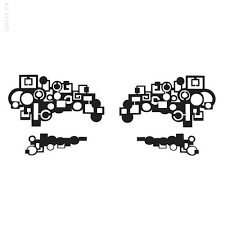 <b>Наклейки</b> для макияжа Face Lace <b>Metropolis</b> Eye Lace Black ...