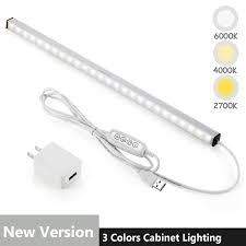 <b>LED</b> Under Cabinet Lighting Bar Built-in Magnets, Dimmable, <b>3</b> ...
