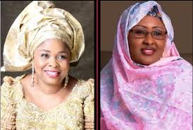 Image result for photos of patience and aisha buhari