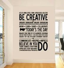 wall art decor incredible typhography cool office mural straight painted black colored letters inspirational words awesome artwork for office walls