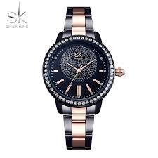<b>Shengke Luxury</b> Crystal <b>Women's</b> Analog Watches <b>Fashion</b> Style ...