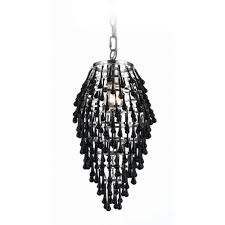 swag chandelier pendant light with black crystal teardrops black crystal chandelier lighting