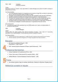 example of a good cv cv template finance and accounting cv page 2