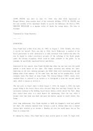 essay about anne frank   essay topics anne frank