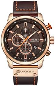 Buy FANMIS <b>Mens</b> Leather Strap Watches <b>Casual</b> Stainless Steel ...