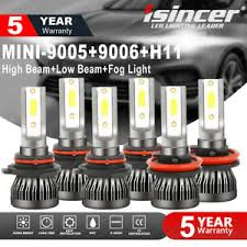 Car & Truck Parts <b>9005 9006 H11 Combo</b> COB LED Headlight Fog ...