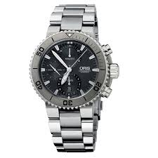 Купить <b>Часы Oris 674</b>-<b>7655</b>-<b>72</b>-<b>53MB</b> Aquis Titan Chronograph в ...