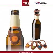 <b>Маркеры</b>-<b>пробки для бутылок</b>, 6 шт, кожа, <b>Vacu</b> Vin, Нидерланды ...
