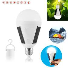 Waterproof LED Solar Light Bulb 7W E27 Portable for Outdoor ...
