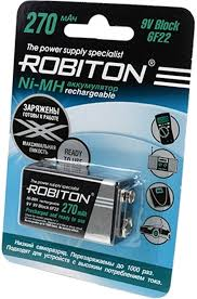 <b>аккумулятор</b> 9V <b>Robiton</b> RTU270MH 6F22/<b>Крона</b>-1BL по самой ...