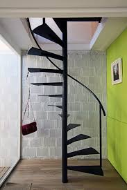 beautiful black painted furniture large size black mate metal indoor floating spiral staircase design for space saving ideas beautiful combination wood metal furniture
