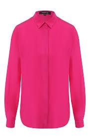 Женская фуксия шелковая <b>блузка BARBARA BUI</b> — купить за ...