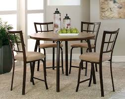 Five Piece Dining Room Sets Dining Room Vision Pub Beige Linen Metal Wood Dining Room Vision 5