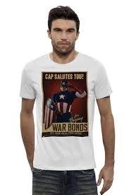 """Футболка Wearcraft Premium """"Капитан Америка / Captain America ..."""