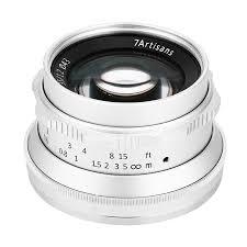 <b>Объектив 7Artisans 35mm</b> F1.2 <b>X Mount</b> Серебро — купить в ...