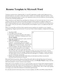 resume examples great microsoft word resume templates letter of resume examples 23 cover letter template for resume template for microsoft word