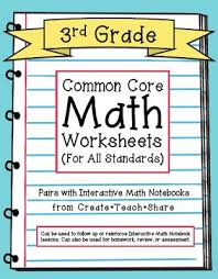 Common Core Worksheets (3rd Grade Edition) to pair with ...Common Core Worksheets (3rd Grade Edition) to pair with Interactive Math Notebooks from Create