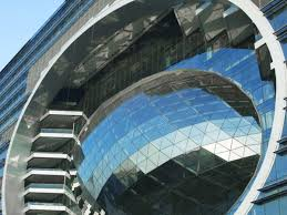 the capital building in mumbai has an egg on its side symbolizing advancement beautiful office building