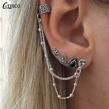 <b>CUTEECO</b> 2018 <b>Vintage</b> Crown Earrings Boucle D'oreille Ethnique ...
