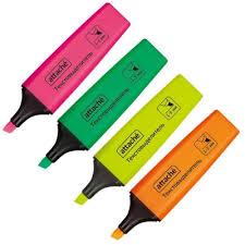 <b>Маркер выделитель</b> текста <b>Attache</b> Colored 1-5 мм <b>набор</b> 4 цвета ...