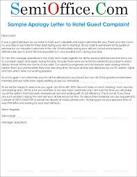 hotel apology letter apology letter 2017 sample