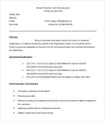 bpo resume template –    free samples  examples  format download    callcenter bpo resume template sample word download
