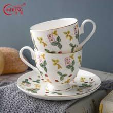 Свежий <b>стиль</b> тонкой костяного фарфора кофе чай <b>чашка с</b> ...