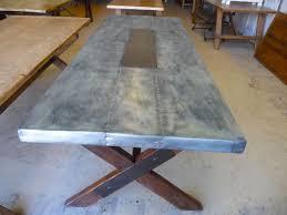 images zinc table top: zinc table top wood legs  zinc table top wood legs